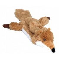 Animate Flat Friend Squeaky Dog Toy (Fox) big image