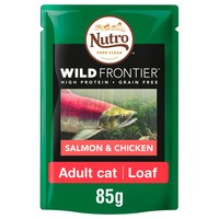 Nutro Wild Frontier Adult Cat Wet Food Pouches (Salmon & Chicken) big image