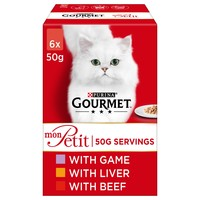 Purina Gourmet Mon Petit Wet Cat Food (Game, Liver & Beef) big image