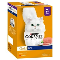 Purina Gourmet Gold Pate Senior Wet Cat Food Tins (Meat Variety) big image