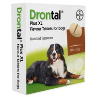 Drontal Plus XL for Dogs Worming Tablet Packs big image