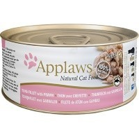 Applaws Adult Cat Food in Broth Tins (Tuna Fillet & Prawn) big image
