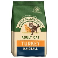 James Wellbeloved Adult Cat Hairball Dry Food (Turkey) big image