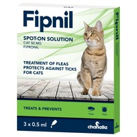 Fipnil Spot On Flea and Tick Treatment for Cats (3 Pipettes) big image