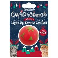Rosewood Cupid & Comet Light Up Festive Cat Ball big image