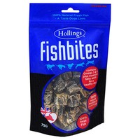 Hollings Fish Bites Dog Treats 75g big image