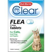 Bob Martin Clear Flea Tablets for Cats and Small Dogs (3 Pack) big image