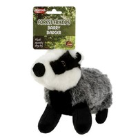 Barry Badger Squeaky Soft Dog Toy big image