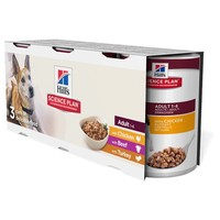 Hills Science Plan Canine Adult Dog Food 3 x 370g Tins (Trial Pack) big image
