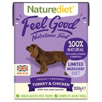 Naturediet Feel Good Wet Food for Adult Dogs (Turkey & Chicken) big image