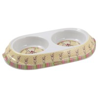 Ancol Lulu Twin Cat Bowl big image