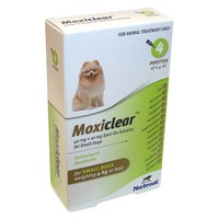 Moxiclear Spot-On Solution for Small Dogs (4 Pipettes) big image