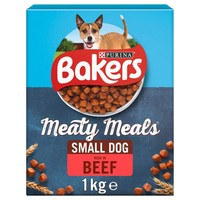Bakers Meaty Meals Small Dog Adult Dry Dog Food (Beef) 1kg big image