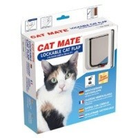 Cat Mate Lockable Cat Flap 234 - White big image