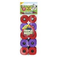 Bags on Board Triple Berry Scented Poo Bag Rolls (140 Bags) big image