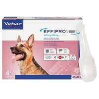 Effipro Duo Spot-On Solution for Large Dogs (4 Pipettes) big image