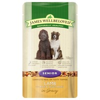 James Wellbeloved Senior Dog Wet Food Pouches (Lamb & Rice) big image