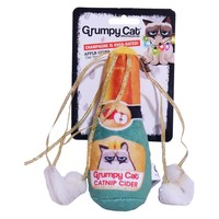 Rosewood Grumpy Cat Catnip Cider Soft Toy for Cats big image