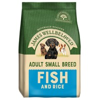 James Wellbeloved Adult Dog Small Breed Dry Food (Fish & Rice) big image