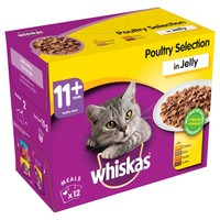 Whiskas 11+ Adult Cat Wet Food Pouches in Jelly (Poultry Selection) big image