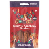 Rosewood Cupid & Comet Turkey & Cranberry Tenders for Dogs 90g big image