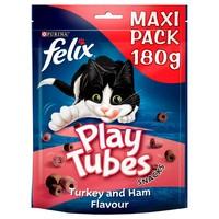 Felix Play Tubes Cat Treats 180g (Turkey and Ham) big image
