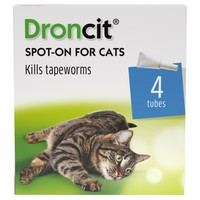 Droncit Spot-On Tapewormer for Cats (4 Tubes) big image