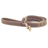 Ancol Timberwolf Leather Dog Lead 1m (Sable) big image