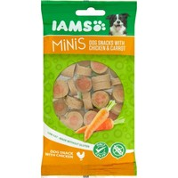 Iams Minis Dog Snacks with Chicken & Carrot 100g big image