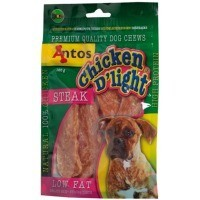 Antos Chicken D'Light Steak Dog Treat 100g big image