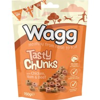Wagg Tasty Chunks Treats for Dogs 150g big image