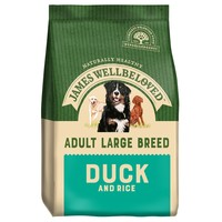 James Wellbeloved Adult Dog Large Breed Dry Food (Duck & Rice) 15kg big image