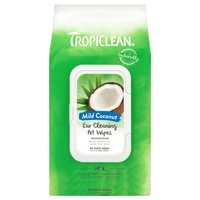 TropiClean Ear Cleaning Wipes for Pets (50 Pack) big image