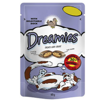 Dreamies Duck Flavoured Cat Treats 60g big image