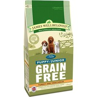 James Wellbeloved Grain Free Puppy/Junior (Turkey & Vegetables) 1.5kg big image