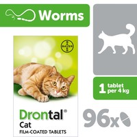 Drontal Cat Worming (OUTER 96 TABLETS) big image
