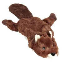 Animate Flat Friend Squeaky Large Dog Toy (Beaver) big image