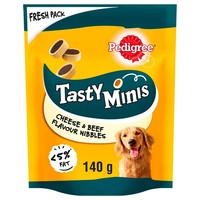 Pedigree Tasty Minis Beef & Cheese Nibbles 140g big image