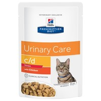 Hills Prescription Diet CD Urinary Stress Pouches for Cats big image