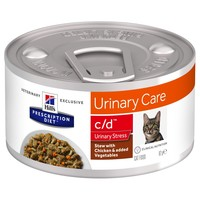 Hills Prescription Diet CD Urinary Stress Tins for Cats (Stew with Chicken & Vegetables) big image