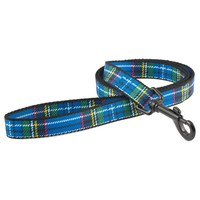 Ancol Nylon Tartan Dog Lead 1m (Blue) big image