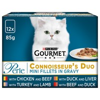 Purina Gourmet Perle Adult Cat Food Pouches (Connoisseur's Duo) big image