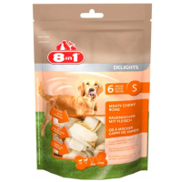 8 in 1 Delights Rawhide Bones Value Bag Small big image