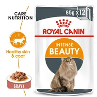 Royal Canin Intense Beauty Care Pouches in Gravy Adult Cat Food big image