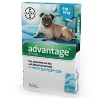 Advantage 100 for Dogs 4 Pipettes big image