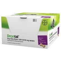 Drontal Tasty Bone Tablets for Dogs (OUTER 102 TABLETS) big image