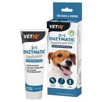 VetIQ 2-in-1 Enzymatic Toothcare Kit big image