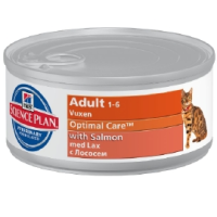 Hills Science Plan Optimal Care Adult Cat Food Tins 24 x 82g (Salmon) big image