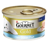 Purina Gourmet Gold Pate Cat Food 12 x 85g Tins (Ocean Fish) big image