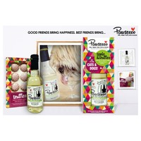 Rosewood Pawsecco White Wine Luxury Gift Set for Dogs & Cats big image